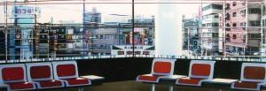 6 Stühle, 2007, 80x230 cm, Acryl, Öl auf Holz