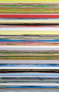 Als-ob-Schleife 1, 2009, 116x76 cm, Acryl, Öl auf Holz