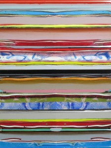 Als-ob-Schleife 2, 2009, 76x58 cm, Acryl, Öl auf Holz