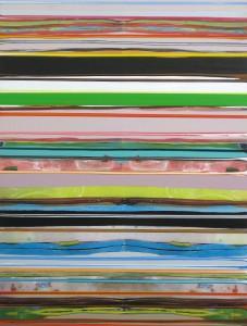 Als-ob-Schleife 4, 2009, 76x58 cm, Acryl, Öl auf Holz