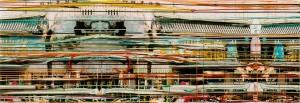 Beijing, 2003, 80x230 cm, Acryl, Öl auf Holz