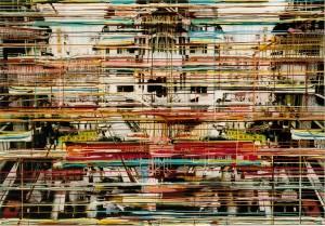 Doppelschlucht, 2003, 160x230 cm, Acryl, Öl auf Holz