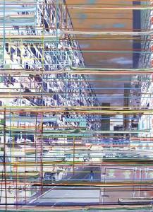 Flucht, 2005, 160x115 cm, Acryl, Öl auf Holz