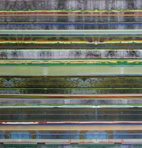 Insula 428, 2010, 240x230 cm, Acryl, Öl auf Holz