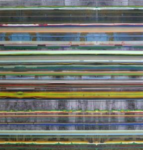 Insula 874, 2010, 240x230 cm, Acryl, Öl auf Holz