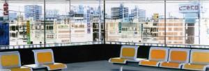 Interieur, 2007, 80x230 cm, Acryl, Öl auf Holz