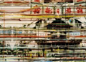 Kowloon, 2003, 115x160 cm, Acryl, Öl auf Holz