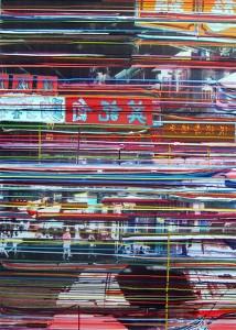 Nacht, 2005, 160x115 cm, Acryl, Öl auf Holz