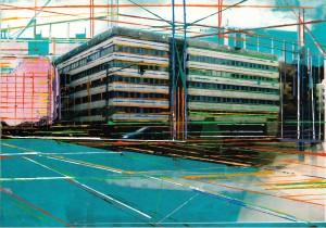 Nr.118, 2011, 21x29 cm, Acryl, Öl auf Foto