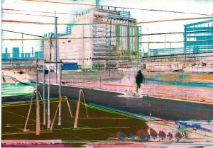 Nr.119, 2011, 21x29 cm, Acryl, Öl auf Foto