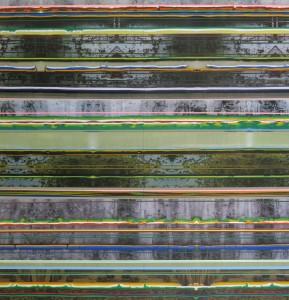 Insula 124, 2010, 240x230 cm, Acryl, Öl auf Holz