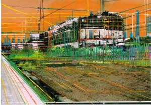 Nr.127, 2011, 21x29 cm, Acryl, Öl auf Foto