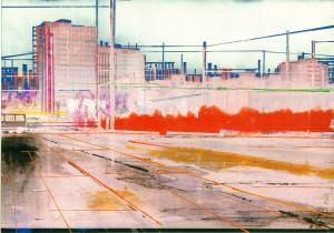 Nr.135, 2011, 21x29 cm, Acryl, Öl auf Foto