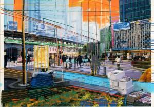 Nr.139, 2011, 21x29 cm, Acryl, Öl auf Foto