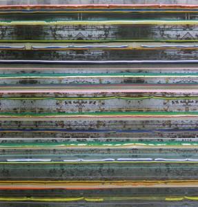 Insula 156, 2010, 240x230 cm, Acryl, Öl auf Holz