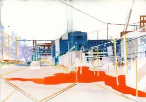 Nr.158, 2011, 21x29 cm, Acryl, Öl auf Foto