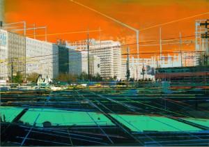 Nr.164, 2012, 21x29 cm, Acryl, Öl auf Foto