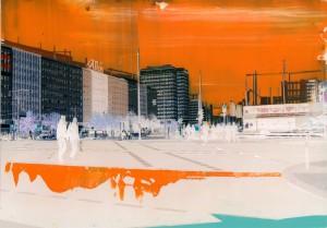 Nr.165, 2012, 21x29 cm, Acryl, Öl auf Foto