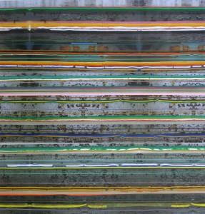 Insula 356, 2010, 240x230 cm, Acryl, Öl auf Holz