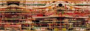 Red Blackout, 2003, 80x230 cm, Acryl, Öl auf Holz