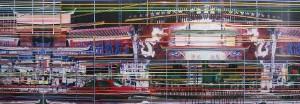 Tempel, 2005, 80x230 cm, Acryl, Öl auf Holz
