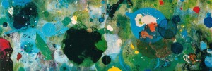 Territories 48, 2000, 80x230 cm, Acryl, Öl auf Holz