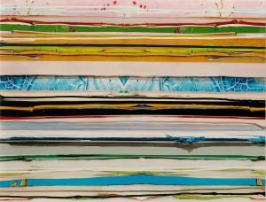 Track 4, 2003, 58x76 cm, Acryl, Öl auf Holz