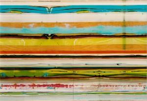 Track 5, 2003, 152x220 cm, Acryl, Öl auf Holz