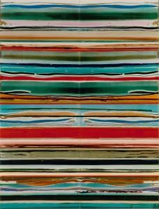 Veiled Sisters 2, 2003, 76x58 cm, Acryl, Öl auf Holz