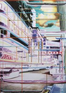 Wolke, 2005, 160x115 cm, Acryl, Öl auf Holz