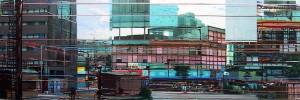 Zona Rosa, 2004, 80x230 cm, Acryl, Öl auf Holz