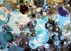Externe 1, 2001, 230x320 cm, Acryl, Öl auf Holz