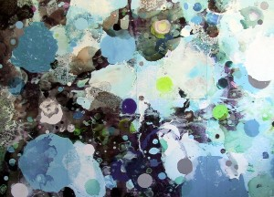 Externe 2, 2001, 230x320 cm, Acryl, Öl auf Holz