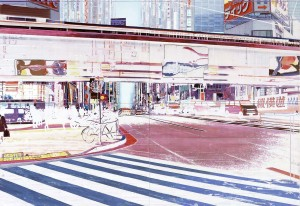 ginza, 2006, 160x230 cm, Acryl, Öl auf Holz