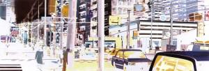 kyoto, 2006,  80x230 cm, Acryl, Öl auf Holz