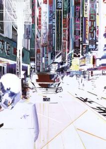 tokyo, 2006, 160 x115 cm, Acryl, Öl auf Holz