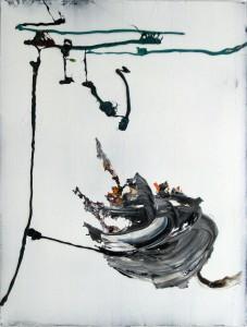 Bound, 2015, 76 x 58 cm, Acrylcollage auf Holz