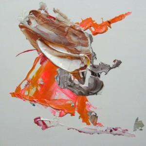 E 2, 2014, 40 x 40 cm, Acrylcollage auf Holz