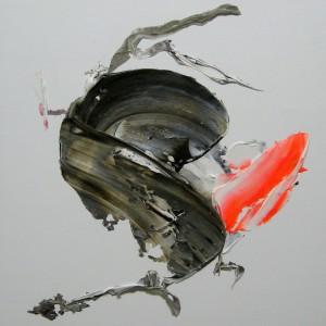 E 4, 2014, 40 x 40 cm, Acrylcollage auf Holz