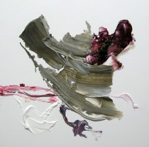 E 5, 2014, 40 x 40 cm, Acrylcollage auf Holz