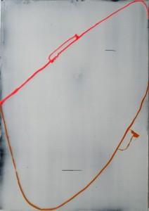 Geisha, 2015, 78 x 55 cm, Acrylcollage auf Holz