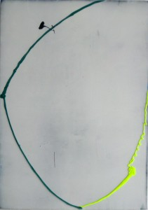 Myhump, 2015, 78 x 55 cm, Acrylcollage auf Holz