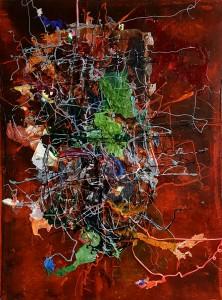 Nr. 1116 (Nacht), 80 x 60 cm, Acryl, Öl auf Holz, 2016