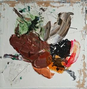 Nr. 1316, 60 x 60 cm, Acryl, Öl auf Holz, 2015 - 2016