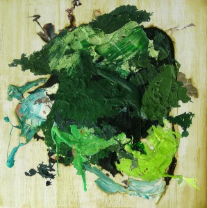 Nr. 1716, 60 x 60 cm, Acryl, Öl auf Holz, 2014 - 2016
