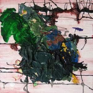 Nr. 216, 60 x 60 cm, Acryl, Öl auf Holz, 2015 - 2016