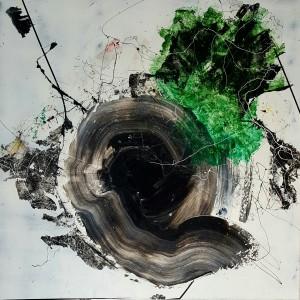 Nr. 2916, 180 x 180 cm, Acryl auf Leinwand, 2016