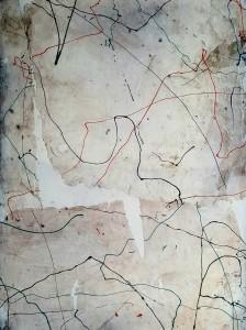 Nr. 1717, 80 x 60 cm, Acryl auf Leinwand, 2017
