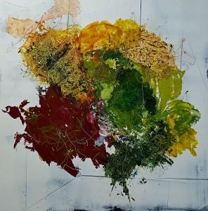 Nr. 617, 180 x 180 cm, Acryl auf Leinwand, 2017