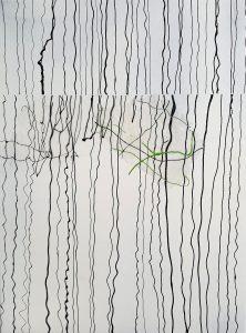 Nr. 119, 2019, Acrylcollage auf Leinwand, 80 x 60 cm
